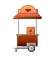 coffee street shop icon cartoon style vector image vector image