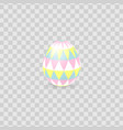 colorful easter egg isolated on transparent vector image vector image