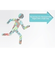 Colorful figure of a man running vector image