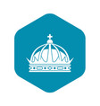 crown icon simple style vector image vector image