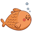 Cute Fish Swimming vector image vector image