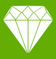 diamond icon green vector image