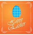 Easter egg silhouette with flowers vector image