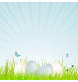 easter white and blue speckled eggs vector image vector image
