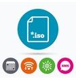 File ISO icon Download virtual drive file vector image vector image