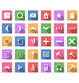 Flat icon set collection with long shadow vector image vector image