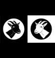 goat goat head goat isolated black silhouettes vector image