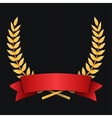 Gold Laurel Shine Wreath Award Design Red vector image