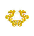 golden baroque ornament luxurious pattern in vector image vector image