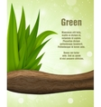 green leaves of the wood vector image
