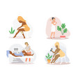 hair removal procedures flat isolated vector image