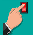 hand push button switch electric control vector image