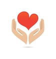 Hands love protect poster vector image vector image
