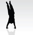 handstand black silhouette vector image vector image