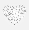heart line - valentines day vector image vector image
