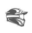 helmet and mask isolated on white background vector image vector image