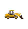 icon front loader construction machinery vector image