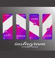 instagram story social media post banner design vector image vector image