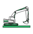 isolated excavator design vector image