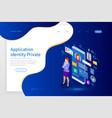 isometric personal data information app identity