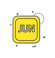 june calender icon design vector image