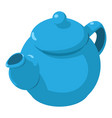 kettle blue icon isometric 3d style vector image vector image