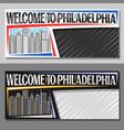 layouts for philadelphia vector image vector image