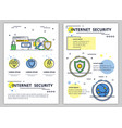line art internet security poster banner vector image vector image