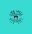 logo elegant antelope vintage badge vector image vector image