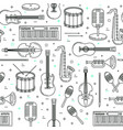 music pattern seamless design vector image vector image