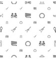 musical icons pattern seamless white background vector image vector image