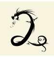Number two made from dragon vector image vector image