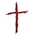 old rugged distressed christian cross vector image