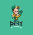 pest company logo vector image vector image