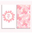 pink rose greeting card and seamless pattern vector image vector image