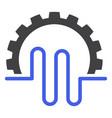 pipe service gear flat icon symbol vector image