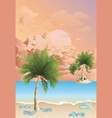 polluted beach at dawn vector image vector image