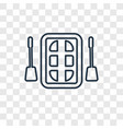 rafting concept linear icon isolated on vector image