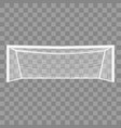 realistic detailed 3d football goal vector image vector image