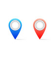 realistic map pin icon with shadow pin icon vector image vector image