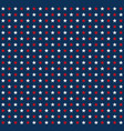 red and white stars pattern on blue background vector image