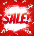 Red Sale Blot vector image vector image