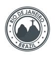 rio de janeiro brazil monument christ design vector image