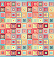 seamless geometric pattern of squares vector image vector image