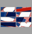 Set abstract background design of american