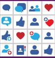 set icon social network vector image