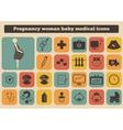 set medical woman pregnancy baicons vector image