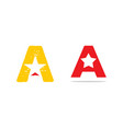 set of initial letter a star logo design vector image