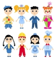 Set of profession cartoon characters vector image vector image