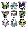 set of sport colorful labels Design vector image vector image